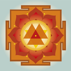 Durga Yantra vector illustration