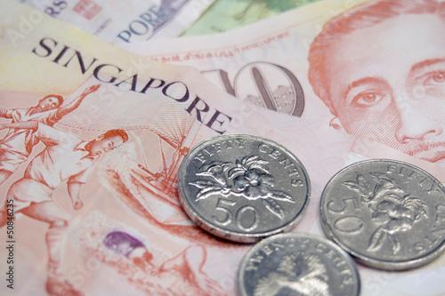 Fotobehang Singapore Singapore money