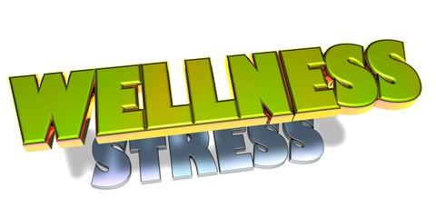 3D Goldzeichen - Wellness - Stress