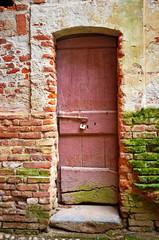 Old wood door color image