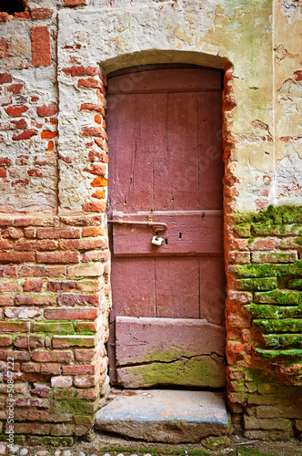 Old wood door color image