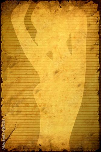 In de dag Vintage Poster Retroplakat - Frauensillhouette
