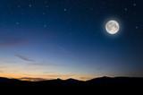 Fototapety full moon background