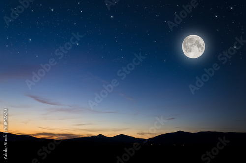 Foto op Canvas Nacht full moon background