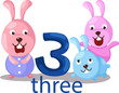 number 3 character with rabbits
