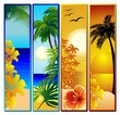 Tropical Seascape and Sunset Banners-Paesaggio Tropicale
