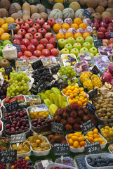 Varioud fruits and vegetables at market