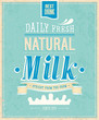 Vintage Milk card. Vector illustration.