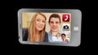 Montage of video call on phone