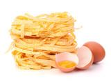 Italian pasta tagliatelle nest