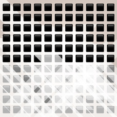Abstract background with black squares and place for text.