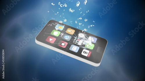 Mobile phone falling in water