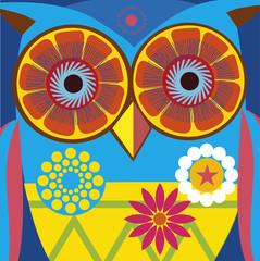 art portrait of a сomic owl