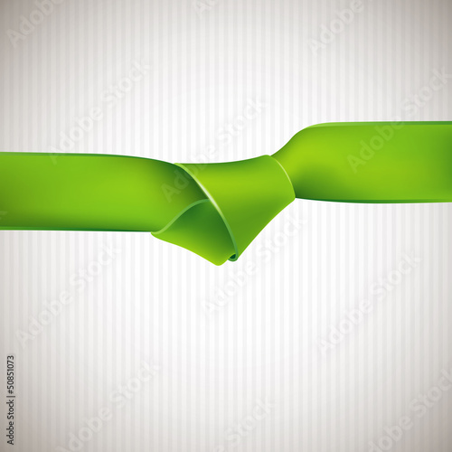 abstract background with green ribbon