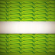 abstract green background with ribbons