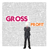 Business word cloud for business and finance concept, Gross Prof