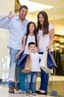 Happy family shopping