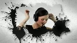Animation of people listening to music