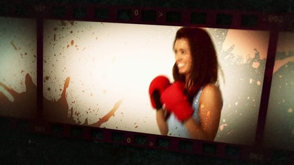 Animation of various people boxing