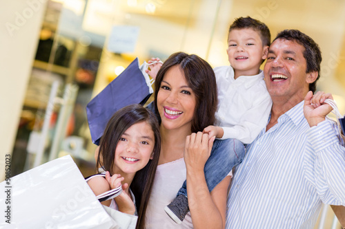Family going shopping