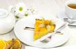 Персиковый пирог к чаю