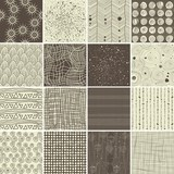 Fototapety a set of 16 doodle seamless patterns and textures