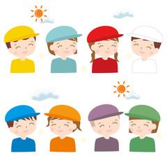 運動会 帽子 色違い 幼稚園