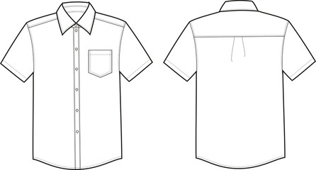 Vector illustration of men's business shirt