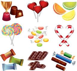 candies photo-realistic vector set