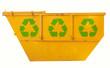 Container mit Recylingzeichen
