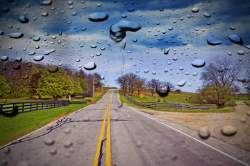 Country Road in the rain