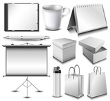 Blank corporate identity object set
