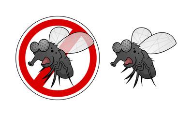 Anti Fliegen Symbol