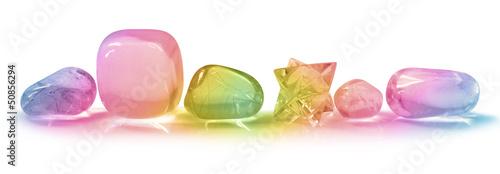Spoed canvasdoek 2cm dik Edelsteen Pretty Rainbow Crystals