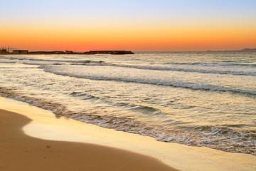 Sunrise over Aegean Sea on Crete, Greece