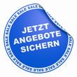 3D Aufkleber Sale Konzept - Jetzt Angebote Sichern Hellblau
