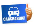 Carsharing! Button, Icon