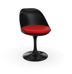 Futuristischer Stuhl - Schwarz Rot