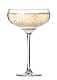 glass of champagne isolated