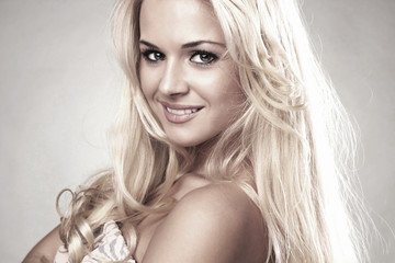 Beautiful smiling blond woman