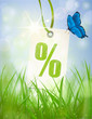 Prozente Etikett - Backlight, Wiese (Vector)