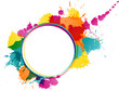 Colorful splater circle design template