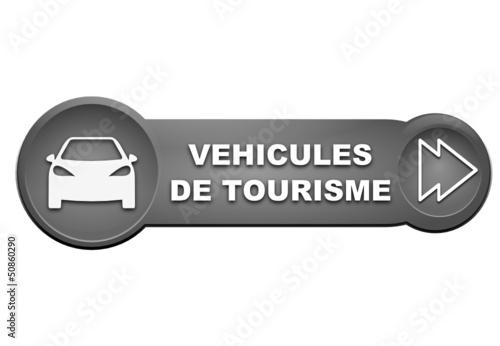 véhicules de tourisme sur bouton gris