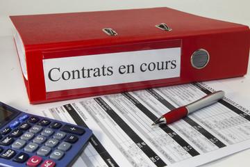 classeur, contrats en cours