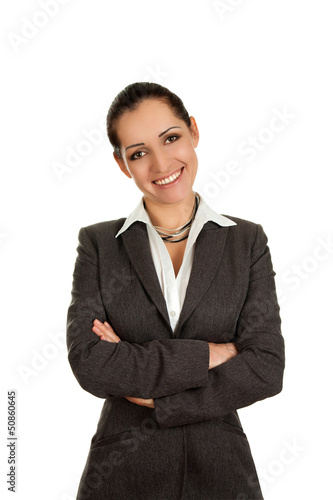 Successful business girl in jacket