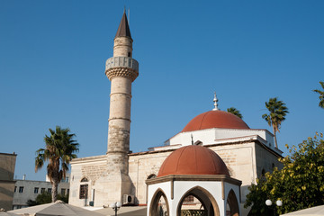 Kos town, Eleftheria Square and Mosque Defderdar