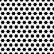 Black hexagon football pattern