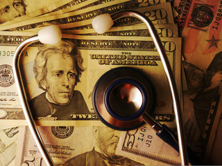 Medical costs profits stethoscope