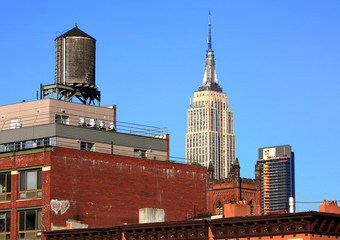"L'Empire state building"" vu de la ""high line"""