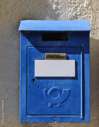 Boîte aux lettres ancienne.